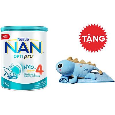 Sữa Bột Nestlé NAN OPTIPRO 4 HMO Lon 1.7kg + Tặng Bộ Mền Gối Khủng Long Nằm