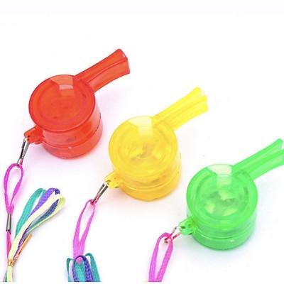 [COMBO 3 Chiếc] Còi nhựa đèn LED đẹp độc đáo - Có 3 chế đồ nhấp nháy - Màu ngẫu nhiên