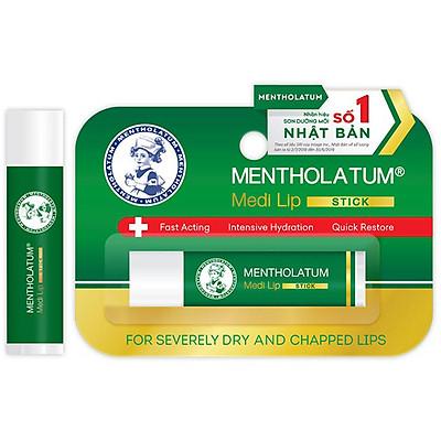 Son dưỡng môi chuyên biệt dành cho môi khô, nứt nẻ Mentholatum Medi Lip Stick (4.3g)