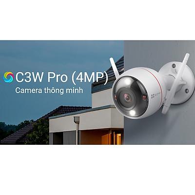 Camera Ip Wifi Ezviz C3W Pro Siêu Nét 4Mp Super HD 1440p Ngoài Trời Full Màu Đêm Đàm Thoại 2 Chiều- Hàng Chính Hãng