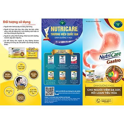 Sữa bột Nutricare Gastro dinh dưỡng y học cho người viêm dạ dày, rối loạn tiêu hoá (900g)