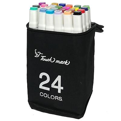 Hộp 24 Bút Lông Màu Touch 2 Đầu Thân Trắng 48-24