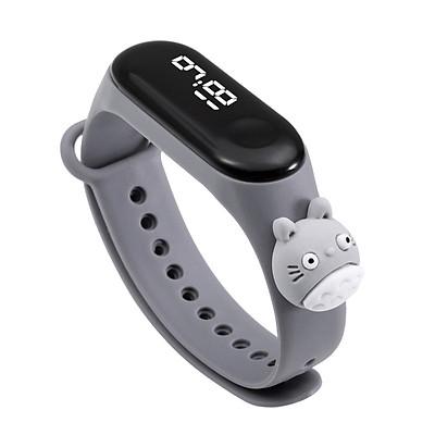 Đồng hồ trẻ em Silicon nhiều màu, đồng hồ điện tử thông minh cho bé E132 - MÀU GHI XÁM