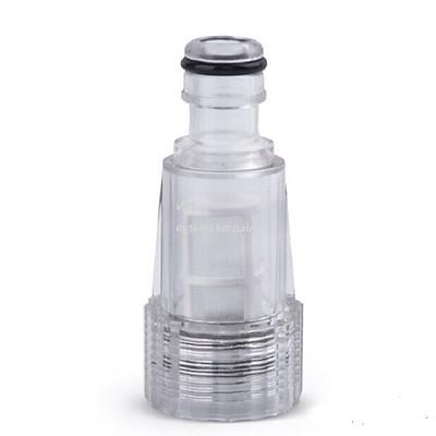 Cút nhựa trắng 2 lớp có lọc nối nhanh, Phụ kiện máy rửa xe áp lực cao