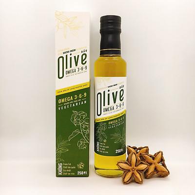 Dầu Olive Sachi Inchi Omega 3-6-9 (Extra virgin olive sacha inchi oil) – 250ml – 100% ép lạnh nguyên chất