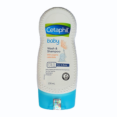 Cetaphil Baby tắm gội hữu cơ Organic - Cetaphil Baby Wash & Shampoo  with Organic Calendula Hair & Body 230ml