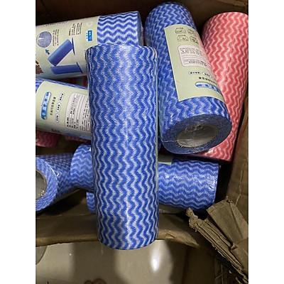 Cuộn 50 miếng khăn lau đa năng bằng vải không dệt