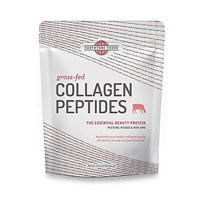 Earthtone Collagen Peptides Powder (16 oz) | Paleo-Friendly Hydrolyzed Grass-Fed Non-GMO Protein (Packaging May Vary)