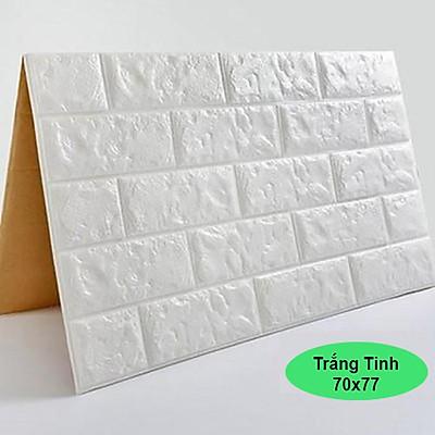 Combo 10 tấm xốp dán tường màu trắng