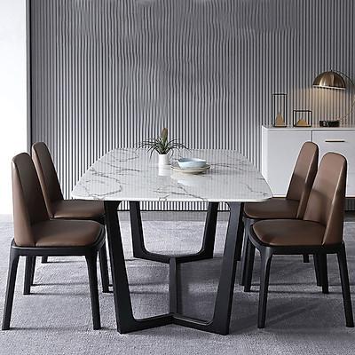Bộ bàn ăn mặt đá Concord kèm 4 ghế 6 ghế