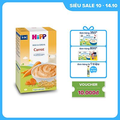 Bột ăn dặm dinh dưỡng Sữa, Ngũ cốc & rau củ - Cà rốt HiPP Organic 250g