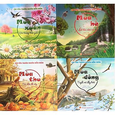 Combo Em yêu thiên nhiên bốn mùa ( Xuân, Hạ, Thu, Đông )