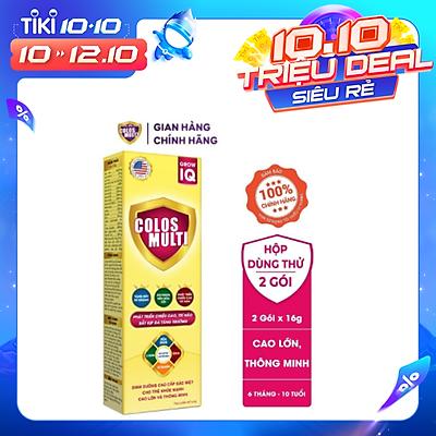 Sữa bột Colosmulti IQ hộp 2 gói x 16g phát triển chiều cao và trí thông minh cho trẻ - MẪU THỬ