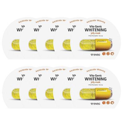 Combo 10 Mặt nạ giấy dưỡng da Banobagi Vita Genic Whitening Jelly Mask (Vitamin C) 30ml x10