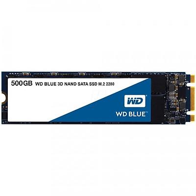 Ổ cứng SSD Western Digital Blue 3D-NAND M.2 2280 SATA III 500GB WDS500G2B0B - Hàng Chính Hãng