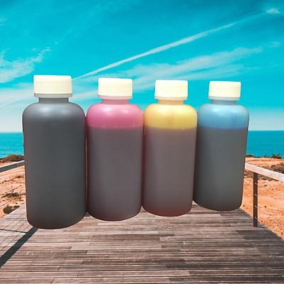 Bộ ( 4 lọ 100 ml/4 màu ) mực in phun màu dùng cho máy in phun Canon 6560/ 6770/ 6860/ E500/ E510/ E600/ 610
