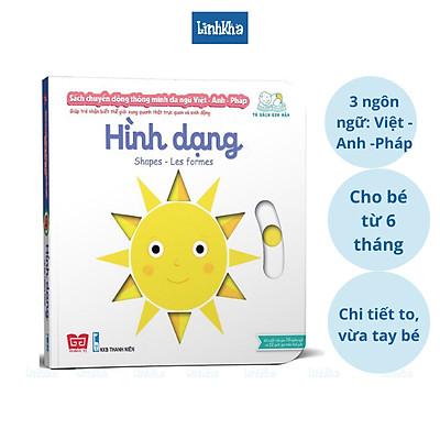 Sách chuyển động tương tác đa ngữ Cho bé từ 6 tháng tới 4 tuổi - Shapes - Hình dạng - Nhà phát hành Đinh Tị
