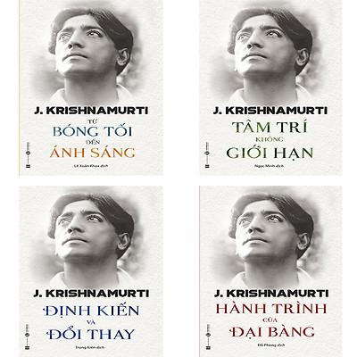 Bộ sách Triết lý của Krishnamurti: Từ Bóng Tối Đến Ánh Sáng, Tâm Trí Không Giới Hạn, Định Kiến Và Đổi Thay, Hành Trình Của Đại Bàng