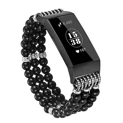 〖Follure〗For Fitbit Charge 3 Replace Watch Band Beads Bracelet Jewelry Wristband Strap