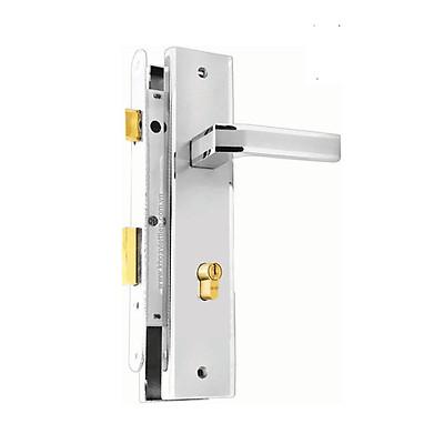 Ổ khoá cửa tay gạt Việt Tiệp 04944 làm từ hợp kim màu trắng bạc dành cho cửa chính, cửa đi
