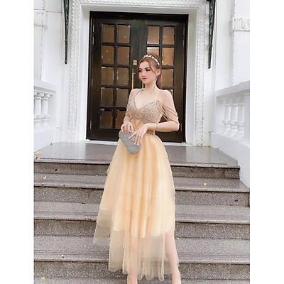 Đầm dự tiệc công chúa sang trọng TRIPBLE T DRESS -size M/L (kèm ảnh/video thật)MS255V