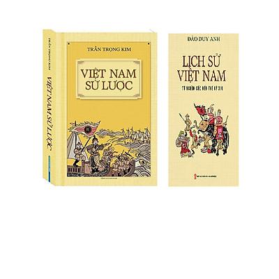Combo 2 cuốn : Việt Nam Sử Lược - Lịch Sử Việt Nam từ nguồn gốc đến thế kỷ XIX