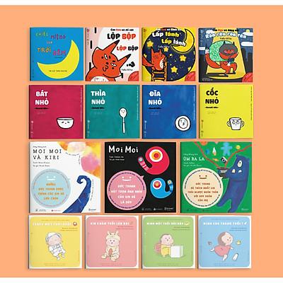 Combo 15 cuốn Ehon dành cho bé từ 0 tuổi. Ehon nuôi dưỡng tâm hồn trẻ (Chiếc miệng trời đêm - Cáo Ken - Moi Moi - Đồ vật - Tengu)