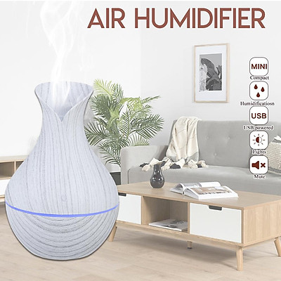 USB w/7 LED Light Ultrasonic Aroma Air Diffuser Electric Mist Humidifier Purifier White