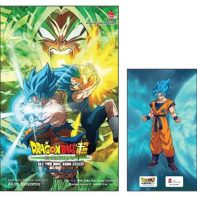 Dragon Ball Super Anime Comics Bảy Viên Ngọc Rồng Siêu Cấp Broly [Tặng Kèm Ngẫu Nhiên 1 Trong 3 Mẫu Standee PVC]