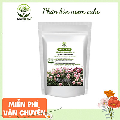 Neem Cake DOCNEEM bánh dầu neem hữu cơ trị sùng đất, cuốn chiếu, ốc sên, kích rễ hoa hồng, phong lan khu vườn, túi 1kg