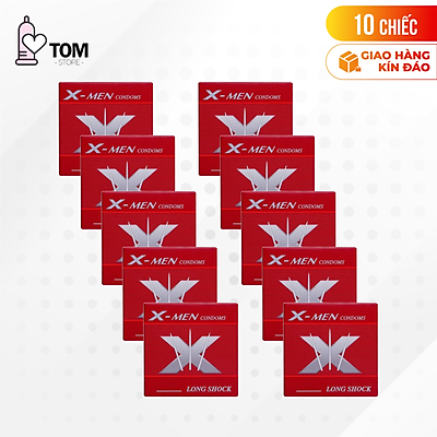[10 cái] Bộ 10 hộp bao cao su X-men - Bi to và gai li ti | Hộp 1 cái