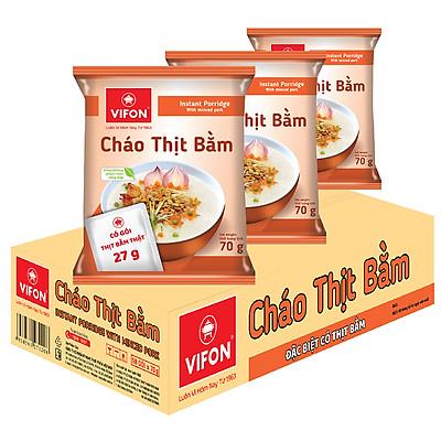 Thùng 50 Gói Cháo Vifon Thịt Bằm (70g / Gói)