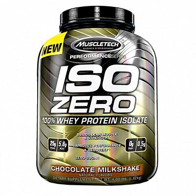 Sữa tăng cơ cao cấp ISO ZERO 100% Whey Protein Isolate của Muscle Tech hỗ trợ tăng cơ giảm cân đốt mỡ hương socola 60 lần đùng