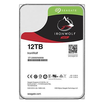 Ổ Cứng HDD NAS Seagate IronWolf 12TB/256MB/3.5 - ST12000VN0008 - Hàng Chính Hãng