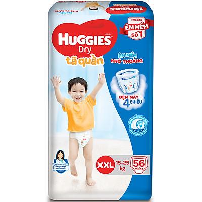 Tã Quần Huggies Dry Gói Cực Đại XXL56 (56 Miếng)