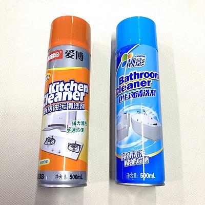 Combo 2 chai xịt tẩy rửa  nhà bếp và nhà vệ sinh