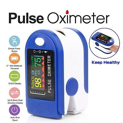 Máy đo nồng độ Oxy, SpO2 trong máu kẹt ngón tay kỹ thuật số màn hình LED