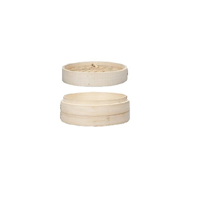 Home 6/7/8 Inch Bamboo Steamer - Classic Traditional Design - Healthy Cooking - Great for dumplings, vegetables, chicken, fish - Steam Basket Natural