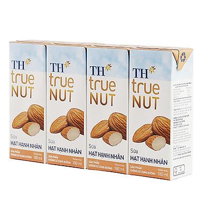 Lốc 4 hộp Sữa hạt Macca TH true NUT (180ml)