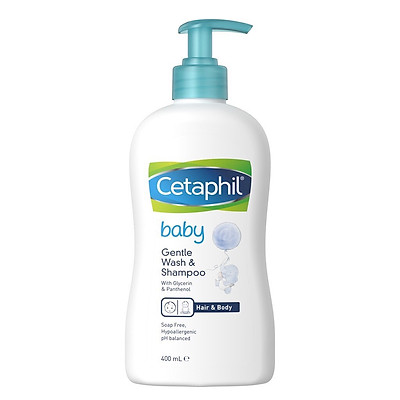 Sữa Tắm Gội Toàn Thân Cetaphil Baby Gentle Wash Shampoo 2 in 1 (400ml)