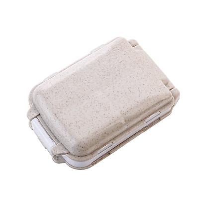 Hộp Đựng Chia Thuốc Uống Theo Ngày Cầm Tay Lúa Mạch Tiện Dụng  (Màu Ngẫu Nhiên)