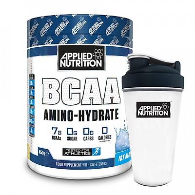Combo BCAA Amino Hydrate 32 lần dùng vị trái cây phục hồi cơ tăng sức bền & bình lắc 700ml