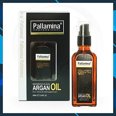 Tinh dầu (Serum)Pallamina Moroccan Argan Oil  dưỡng tóc cao cấp 60ml