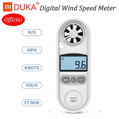 Máy đo tốc độ gió cầm tay Xiaomi DUKA Máy đo tốc độ gió cầm tay để đo nhiệt độ tốc độ gió