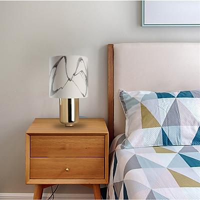 Đèn để bàn trang trí nhà cửa hoạ tiết vân đá đẹp mắt 3-D-C15-T2870