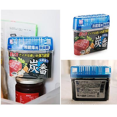 Combo Dung dịch tẩy rửa Baking soda dạng xịt (Rocket Soap) 300ml + Hộp khử mùi tủ lạnh than hoạt tính Kokubo 150g - Hàng nội địa Nhật Bản