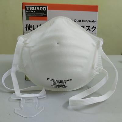 Khẩu trang chống bụi mịn PM 2.5 tiêu chuẩn N95 (1 cái) hãng Trusco Nhật Bản