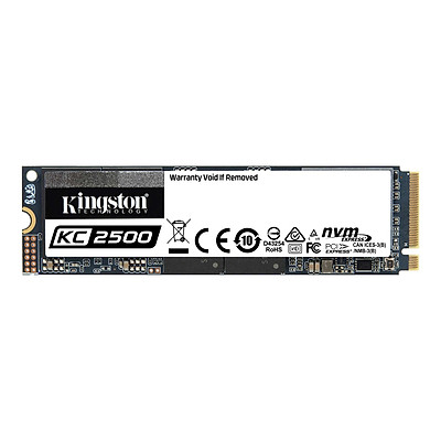 Ổ cứng SSD Kingston KC2500 M.2 PCIe Gen3 x4 NVMe 500GB SKC2500M8/500G - Hàng Chính Hãng