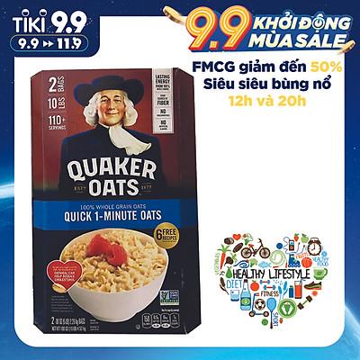 Yến Mạch Quaker Oats 1 Minute dạng hạt cán vỡ 4.52kg
