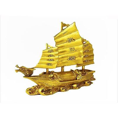 Thuyền buồm Thuận buồm xuôi gió bằng đồng thau Hồng Thắng cỡ nhỏ